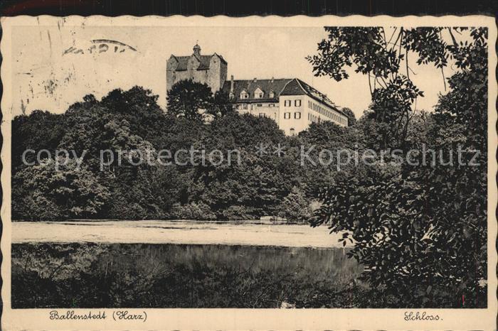 Ballenstedt Schloss Kat. Ballenstedt