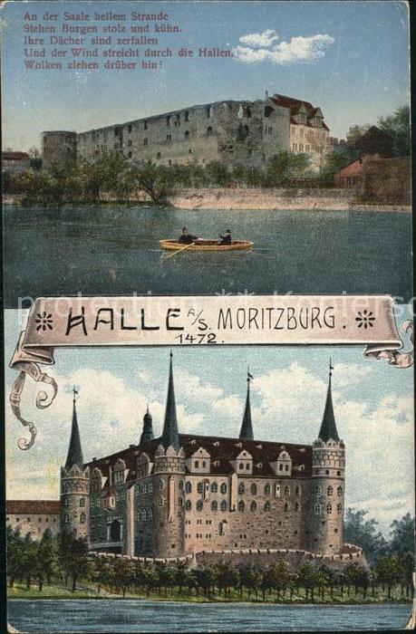Halle Saale Moritzburg Gedicht An Der Saale Hellem Strande Kat Halle