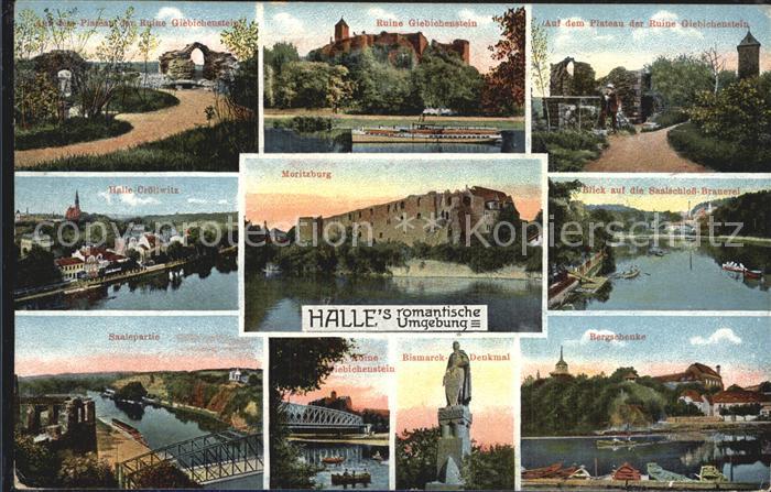 Halle Saale Giebichenstein Crollwitz Moritzburg Saalschloss Brauerei Bergschenke Kat. Halle