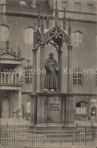 Wittenberg Lutherstadt Luther Denkmal  Kat. Wittenberg