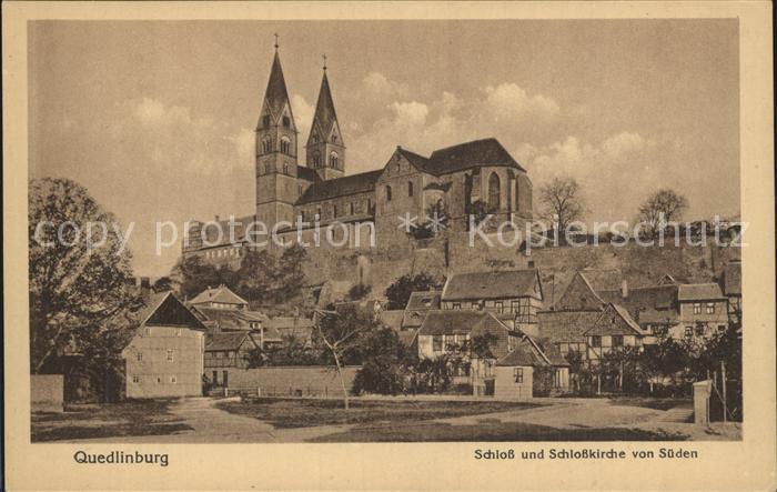 Quedlinburg Schloss Schlosskirche Kat. Quedlinburg