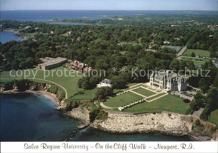 Newport Rhode Island Salve Regina University On the Cliff Walk Air view Kat. Newport