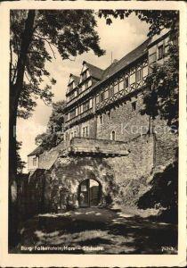 Falkenstein Harz Burg Falkenstein Suedseite Kat. Falkenstein Harz