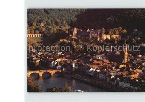 Heidelberg Neckar Schloss und Altstadt vom Philosophenweg Kat. Heidelberg