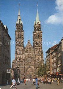 Nuernberg Sankt Lorenzkirche Karolinenstrasse Fussgaengerzone Kat. Nuernberg