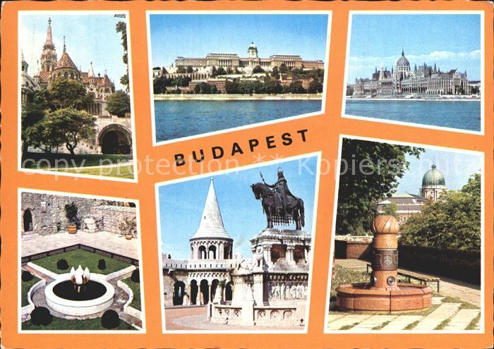 Budapest Brunnen Denkmal  Kat. Budapest