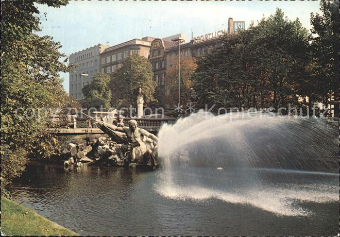 Duesseldorf Koenigsallee Brunnen Kat. Duesseldorf