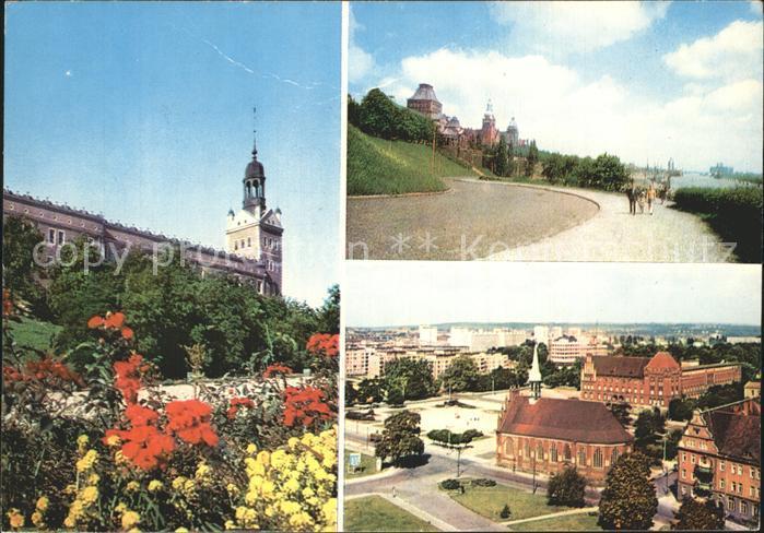 Szczecin Kirche Panorama Kat. Szczecin Stettin