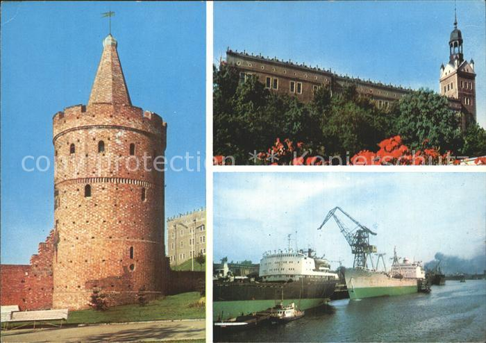 Szczecin Burg Hafen Kirche Kat. Szczecin Stettin