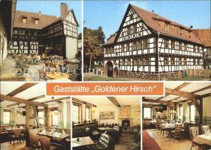 Suhl Thueringer Wald Neundorf Restaurant Goldener Hirsch Kat. Suhl