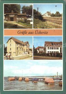 ueckeritz Usedom Fischerhuette Bahnhof Rat der Gemeinde  Kat. ueckeritz Usedom