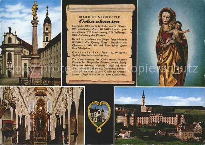 Ochsenhausen Benediktinerkloster Gnadenbild  Kat. Ochsenhausen