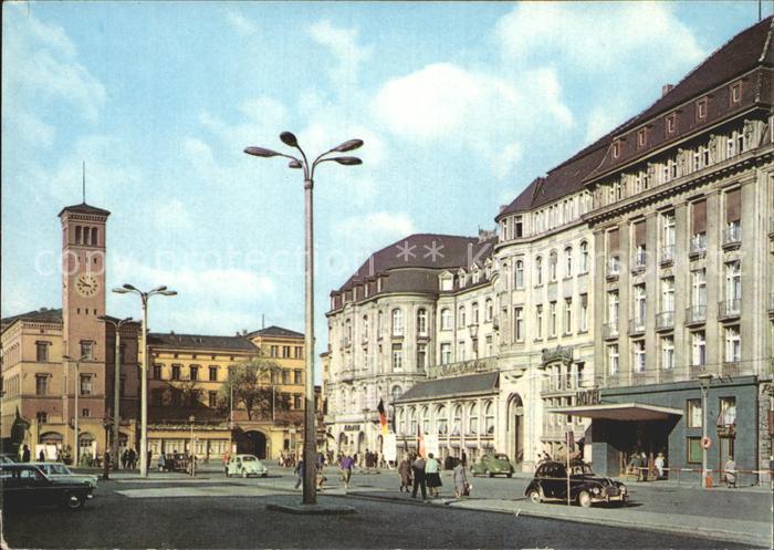 Erfurt Bahnhofsplatz HO Hotel Erfurter Hof  Kat. Erfurt