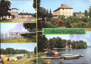 Lindow Mark Bahnhof Seglerhafen Campingplatz Kloster Kat. Lindow Mark