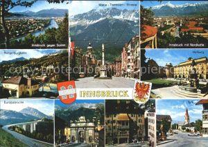 Innsbruck Maria Theresien Strasse Europabruecke Goldenes Dach Hofburg Kat. Innsbruck