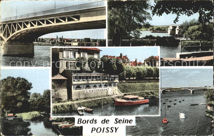 Poissy Bords de Seine Restaurant Pont / Poissy /Arrond. de Saint-Germain-en-Laye
