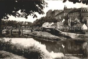 Weilburg Uferpartie an der Lahn Bruecke Schloss Kat. Weilburg Lahn