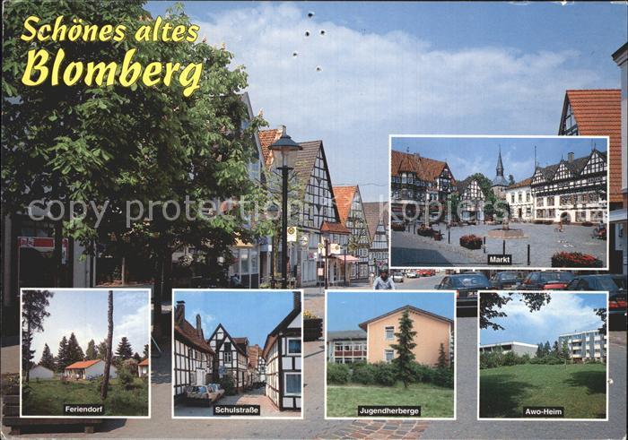 Blomberg Lippe Markt Fachwerkhaeuser Feriendorf Schulstrasse Jugendherberge AWO Heim Kat. Blomberg