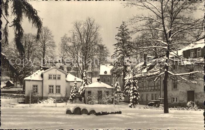 Warmbad Wolkenstein Sanatorium im Winter Kat. Wolkenstein