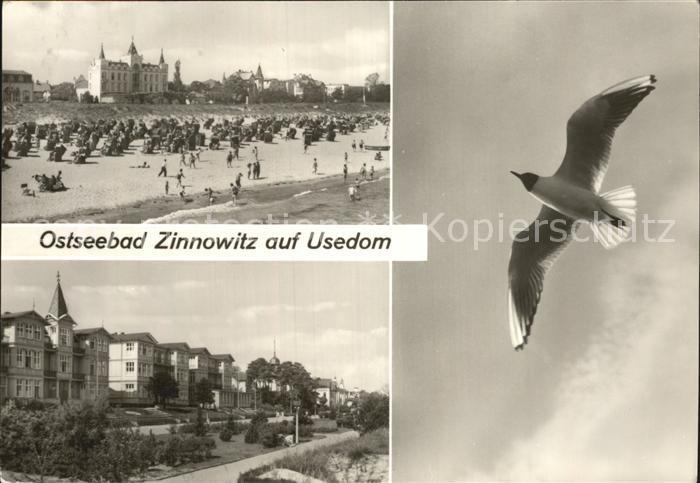 Zinnowitz Ostseebad Badestrand und Strandpromenade