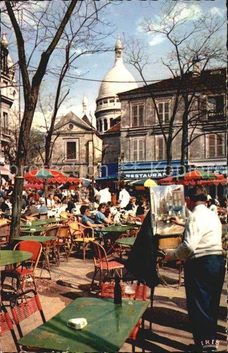 Paris Place du Tertre Kat. Paris