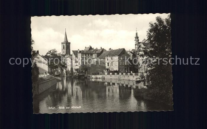 Erfurt Blick zur Altstadt Kat. Erfurt