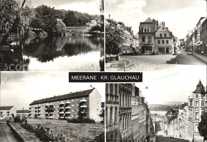 Meerane Gondelteich Franz Mehring Platz Steile Wand Kat. Meerane