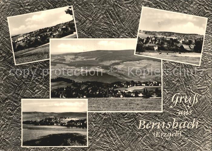 Bernsbach Ortsansichten  Kat. Bernsbach