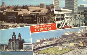 Liverpool Mersey Tunnel Entrance Landing Stage St Johns Precinct The Pier Head Kat. Liverpool