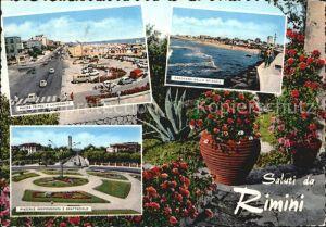 Rimini Piazza Tripoli Panorama della spiaggia Piazzale Indipendenza e Grattacielo Kat. Rimini