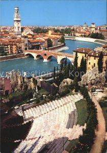 Verona Veneto Teatro Romano Fliegeraufnahme Kat. Verona