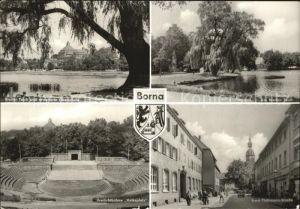 Borna Freilichtbuehne Breiter Teich  Kat. Borna