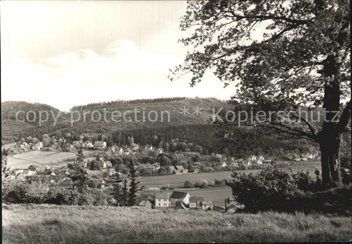 Cabarz mit Datenberg Kat. Tabarz Thueringer Wald