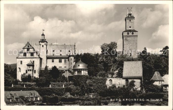 Kronberg Taunus Burg Kronberg Kat. Kronberg im Taunus
