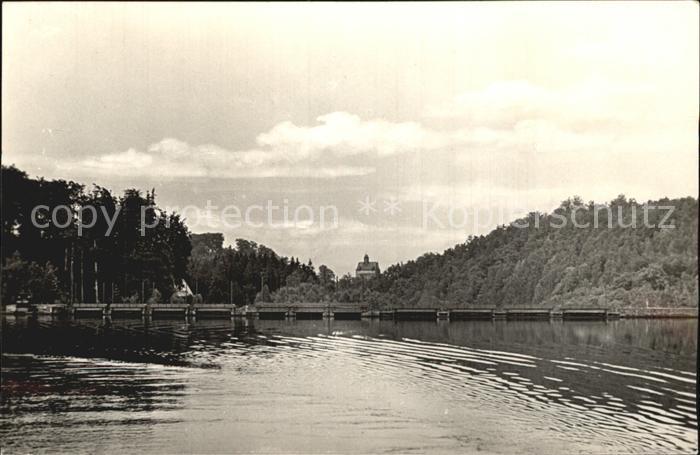 Kriebstein Talsperre mit Burg Kriebstein Kat. Kriebstein