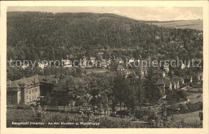 Ilmenau Thueringen An der Herder und Waldstrasse Kat. Ilmenau