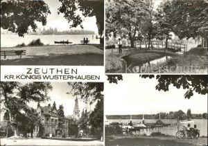 Zeuthen Zeuthener See Brueckchen Schloss Seebruecke Kat. Zeuthen
