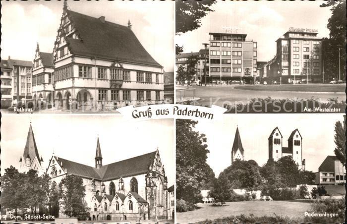 Paderborn Westerntor Paderanlagen Dom Rathaus Kat. Paderborn