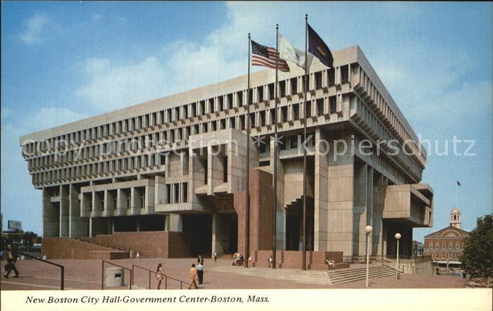 Boston Massachusetts New Boston City Hall Government Center Kat. Boston