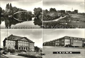 Leuna Waldbadbruecke Saaleanlagen  Kat. Leuna