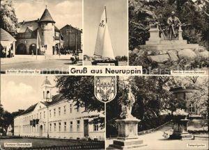 Neuruppin Bahnhof Rheinsberger Tor Tempelgarten Ruppiner See Fontane Denkmal Kat. Neuruppin