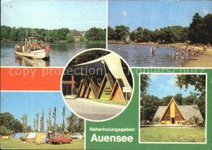 Leipzig Naherholungsgebiet Auensee HOG Haus Auensee Strandbad Campingplatz Gaststaette Intertreff Kat. Leipzig