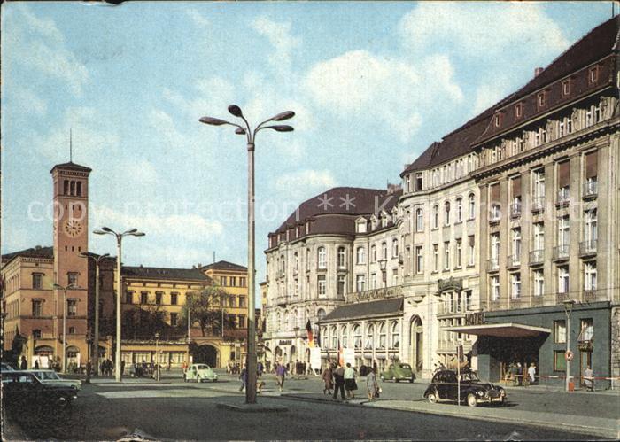 Erfurt Bahnhofsplatz mit HO Hotel Erfurter Hof Kat. Erfurt