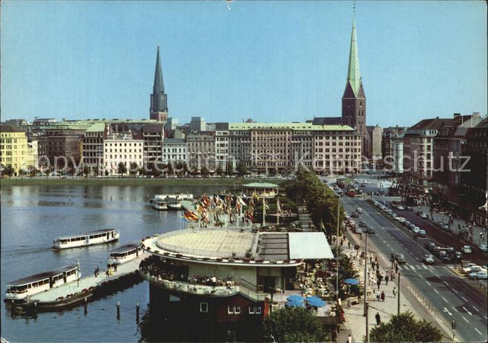 Hamburg Jungfernstieg Alsterpavillon Kat. Hamburg