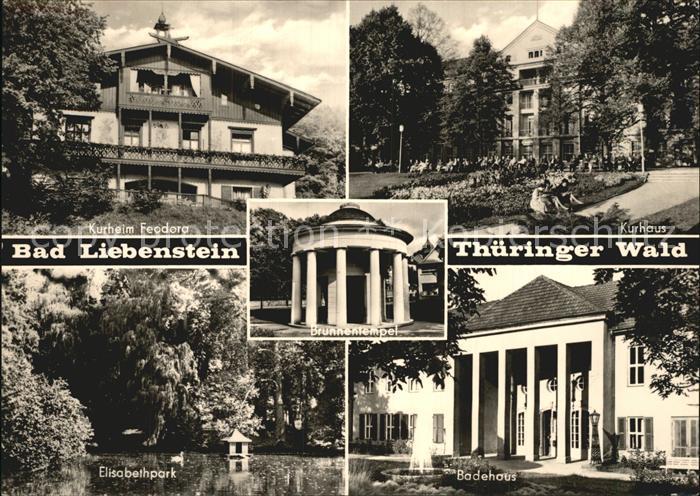 Bad Liebenstein Kurheim Feodora Elisabethpark Kurhaus Badehaus  Kat. Bad Liebenstein