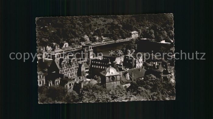 Heidelberg Neckar Heidelberger Schloss von der Molkenkur aus gesehen Kat. Heidelberg