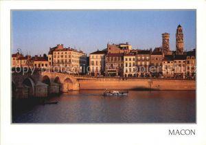 Macon Saone et Loire La Saone le Pont les Quais Kat. Macon