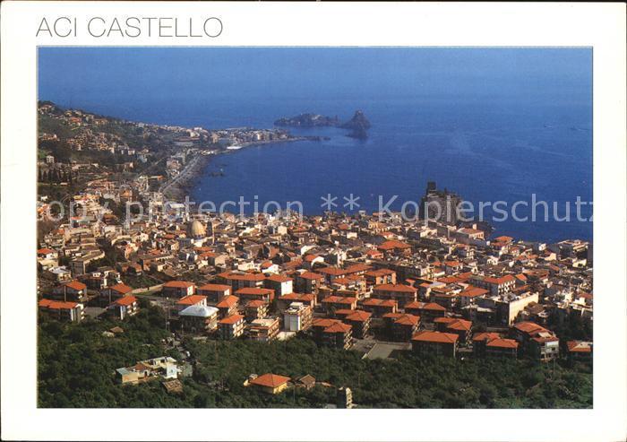 Catania Aci Castello Veduta aerea del castello e dei faraglioni Kat. Catania