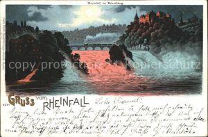 Rheinfall SH Wasserfall Mondschein / Rheinfall /Bz. Schaffhausen