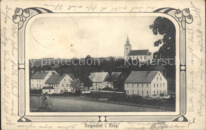 Voigtsdorf Erzgebirge Ansicht mit Kirche / Dorfchemnitz Sayda /Mittelsachsen LKR